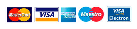 La Chinita DFSK - MasterCard, Visa, American Express, Maestro y Visa Electron - Logos de Tarjetas